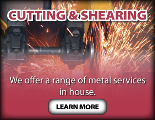 Cutting & Shearing - We offer a range of metal services in-house. Cutting metal